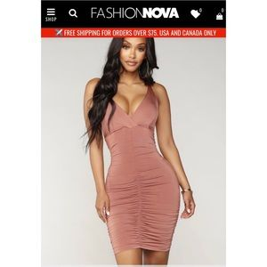 Fashion Nova Stop Beggin' Mini Dress